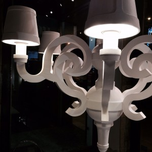 paper chandelier shade, moooi, studio job